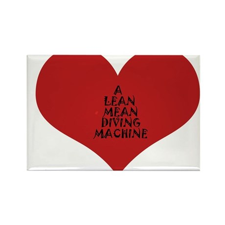 Lean Mean Diving Machine Rectangle Magnet