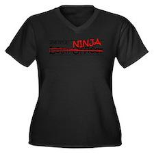 Job Ninja Loan Officer Women's Plus Size V-Neck Da