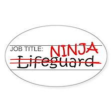 Job Ninja Lifeguard Decal