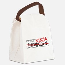 Job Ninja Lifeguard Canvas Lunch Bag