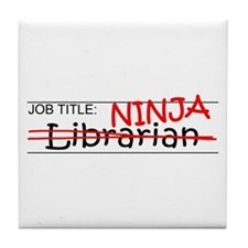 Job Ninja Librarian Tile Coaster