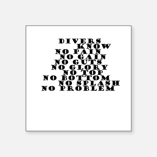 DIVERS KNOW Sticker