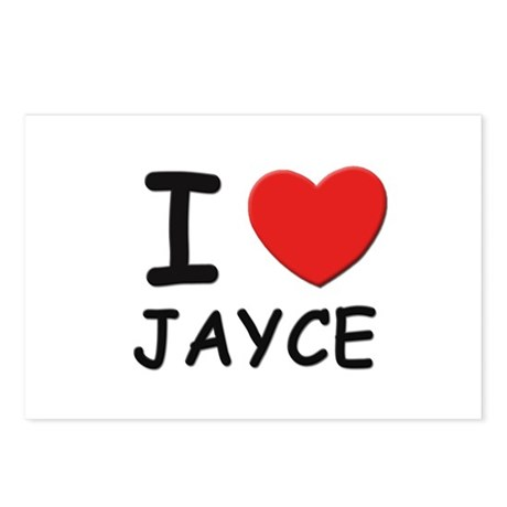 I love Jayce Postcards (Package of 8)