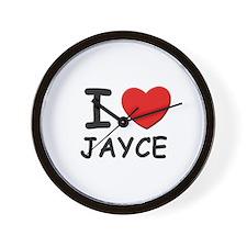 I love Jayce Wall Clock
