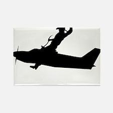 Flying Cowboy Rectangle Magnet