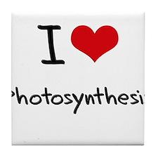 I Love Photosynthesis Tile Coaster
