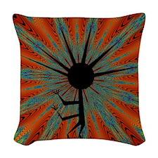 Spiral Kokopelli Woven Throw Pillow