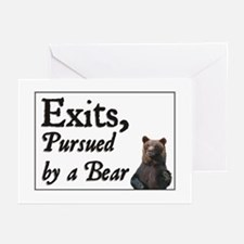 Exits, Pursued by a Bear Greeting Cards (Package o