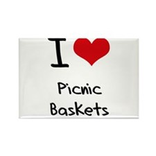 I Love Picnic Baskets Rectangle Magnet