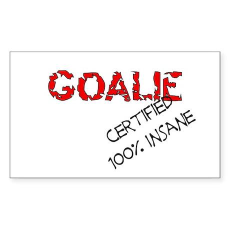 Insane Goalie Rectangle Sticker