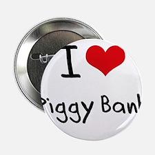 """I Love Piggy Bank 2.25"""" Button"""