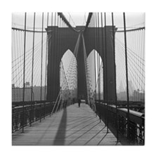 Tile Coaster<BR>Vintage Brooklyn Bridge