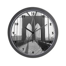 Wall Clock<BR>Vintage Brooklyn Bridge