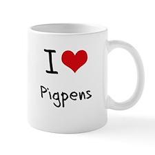 I Love Pigpens Mug