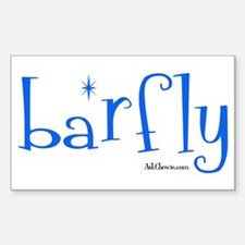 Bar Fly Rectangle Decal