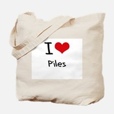 I Love Piles Tote Bag