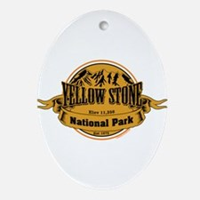Yellow Stone Wyoming Ornament (Oval)