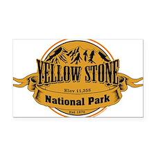 Yellow Stone Wyoming Rectangle Car Magnet