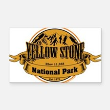 Yellow Stone Wyoming Rectangle Car Magnet