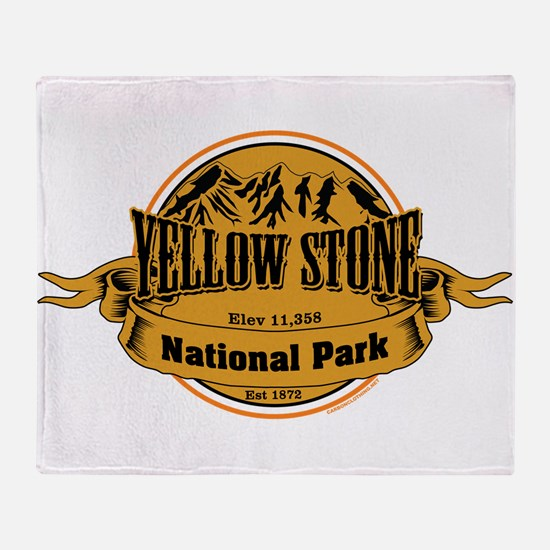 Yellow Stone Wyoming Throw Blanket
