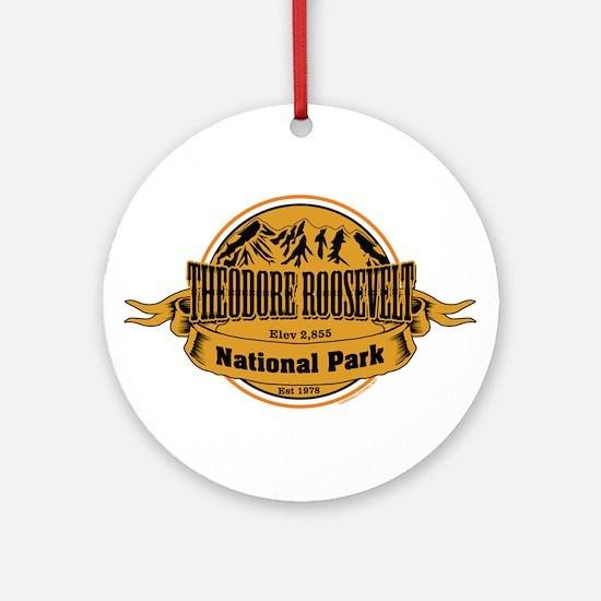 Theodore Roosevelt , North Dakota Ornament (Round)