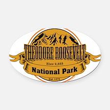 Theodore Roosevelt , North Dakota Oval Car Magnet