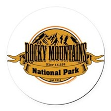 Rocky Mountains, Colorado Round Car Magnet