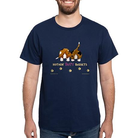 Nothin' Butt Bassets Navy T-Shirt