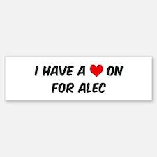 Heart on for Alec Bumper Bumper Bumper Sticker