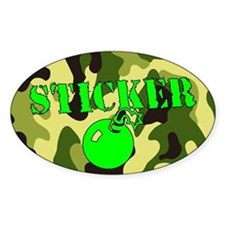 Decal Bomb Decal - Green on Green Camo Decal