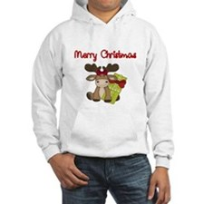 Merry Christmas with moose Hoodie