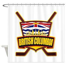 British Columbia Hockey Flag Shower Curtain