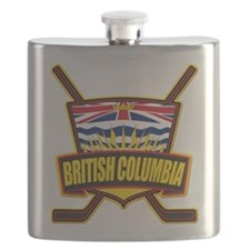 British Columbia Hockey Flag Flask