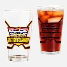 British Columbia Hockey Flag Drinking Glass