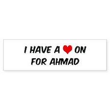 Heart on for Ahmad Bumper Bumper Sticker