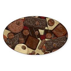 Got Chocolate? Sticker (Oval 50 pk)