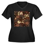 Got Chocolate? Women's Plus Size V-Neck Dark T-Shi