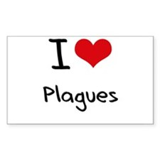 I Love Plagues Decal