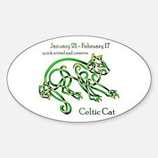 Celtic Cat Decal