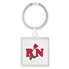 RN Nurse Rose Keychains