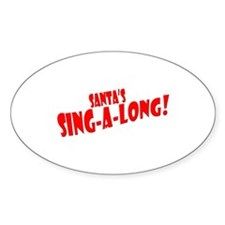 Santa Title Oval Decal