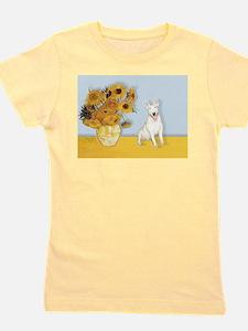 MP-Sunflowers - Bull Terrier 4.png Girl's Tee