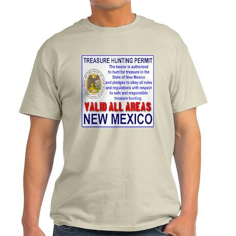 Treasure Hunting Permit New Mexico Light T-Shirt