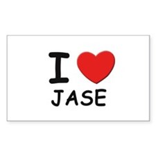 I love Jase Rectangle Decal
