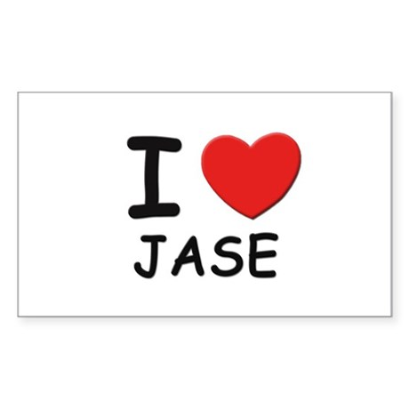 I love Jase Rectangle Sticker
