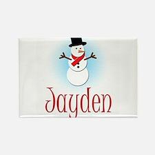 Snowman - Jayden Rectangle Magnet