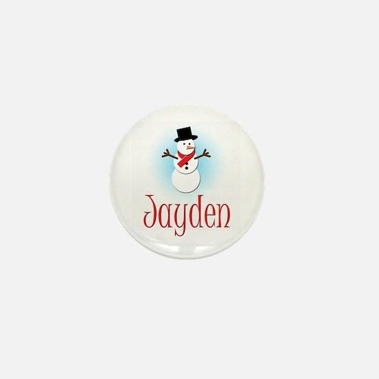 Snowman - Jayden Mini Button