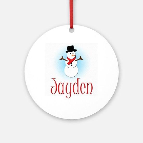 Snowman - Jayden Ornament (Round)
