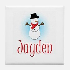 Snowman - Jayden Tile Coaster