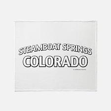 Steamboat Springs Colorado Throw Blanket